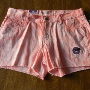 Old Navy Diva 16 Pink Peach Tie Dye Cut Off Shorts